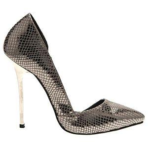 LeSille Bronz Lazerli Deri Düşük Dekolteli İç Açık Ayakkabı