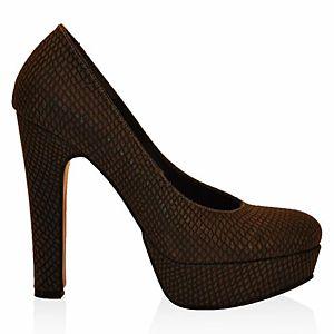 LeSille Füme Lazer Deri Düz ayakkabı