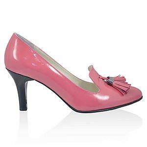 LeSille Fuşya Rugan Dilli Püsküllü Ayakkabı