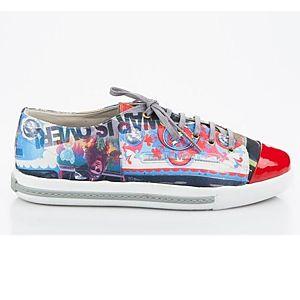 LeSille Ghetto Desen Kumaşlı Maskeretli Sneaker Ayakkabı