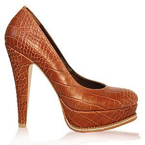 LeSille Kahve Krokodil Kösele Vardolalı Ayakkabı