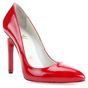 LeSille Kırmızı Rugan Stiletto Ayakkabı