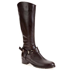 LeSille Koyu Kahverengi Deri Çift Tokalı Çizme