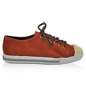LeSille Kremit Kırmızısı Süet Burun Droglu Maskeretli Sneaker Ayakkabı