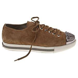 LeSille Kum Beji Süet Burun Droglu Maskeretli Sneaker Ayakkabı