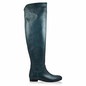 LeSille Nefti Yeşili Kips Deri Basic Çizme
