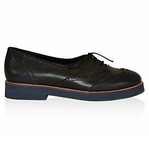 LeSille Petrol Yeşili & Haki Yeşil  Deri Köpük Tabanlı Oxford Ayakkabı
