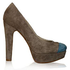 LeSille Saks Mavi & Açık Gri Süet Basic Ayakkabı