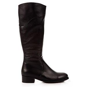 LeSille Siyah Deri Basic Pimli Çizme