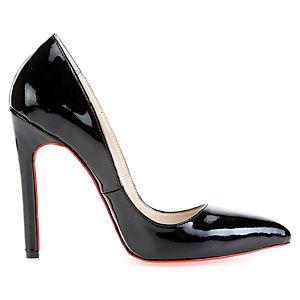 LeSille Siyah Rugan Stiletto Ayakkabı