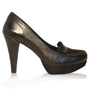 LeSille Siyah Saraçlı Ayakkabı