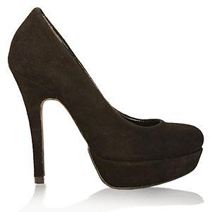 LeSille Siyah Süet Düz ayakkabı