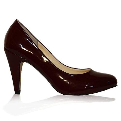 LeSille Vişneçürüğü Rengi Rugan Basic Ayakkabı