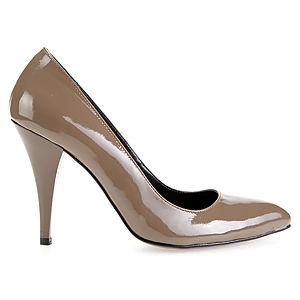 LeSille Vizon Rugan Alçak Stiletto Ayakkabı