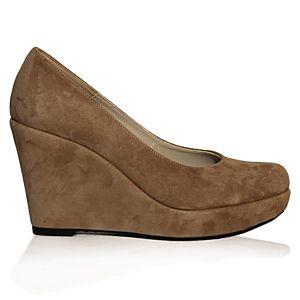 LeSille Vizon Süet Dolgu Topuk Ayakkabı