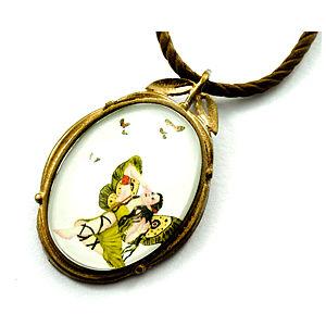 Mainili Butterfly Fairy Bronze Art Pendant