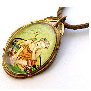 Mainili Cute Fairy Bronze Art Pendant