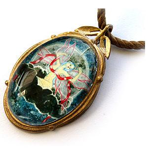 Mainili Moon Fairy Bronze Art Pendant
