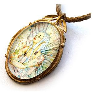Mainili Pastel Fairy Bronze Art Pendant