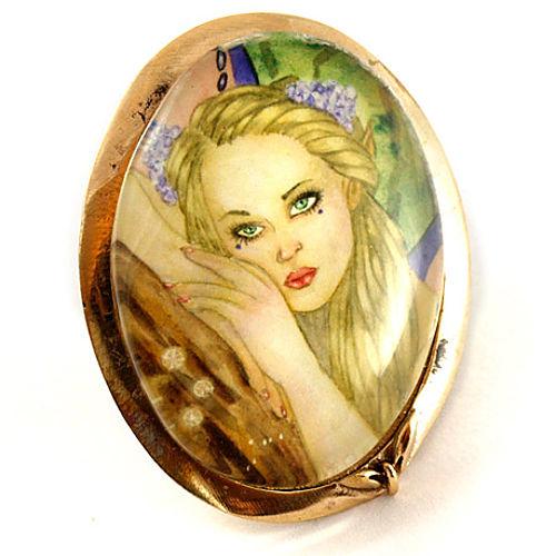 Mainili Pink Fairy Bronze Brooch