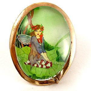 Mainili Spring Fairy Bronze Brooch
