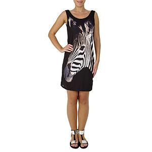 Moda Duygusu Zebra Baskılı Elbise