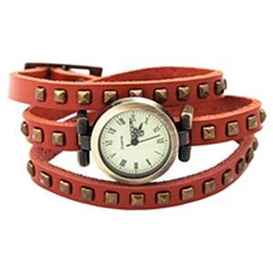 Modapik Turuncu Vintage Dolamalı Saat