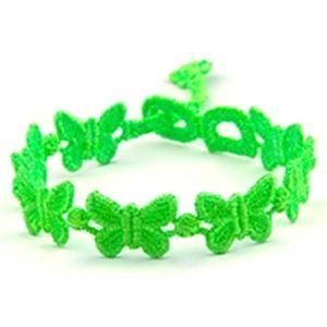 Modapik Yeşil Kelebekli Bileklik