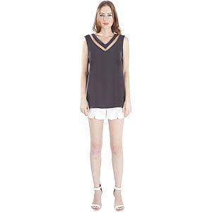 MyMija Antrasit Transparan Detay Bluz