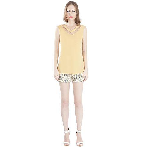 MyMija Hardal Transparan Detay Bluz