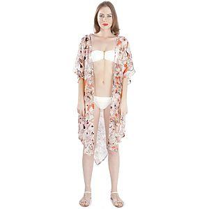 MyMija Kahveli Neon Kimono