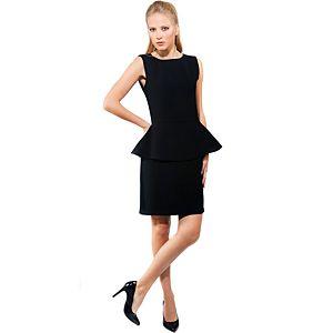MyMija Siyah Peplum Elbise