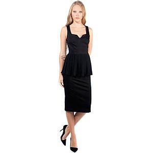 MyMija Yagmur Cömert for Mija Siyah Peplum Elbise