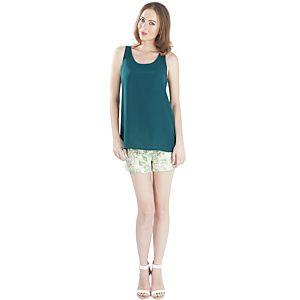 MyMija Yeşil Sırt Detaylı Bluz