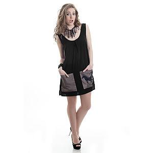 Gözde&Hande Zebra Cepli Elbise