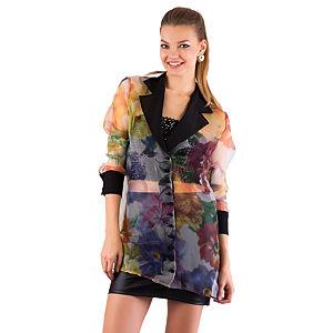 Gülçin Uzunalan Çiçekli Şifon Ceket Yaka Bluz