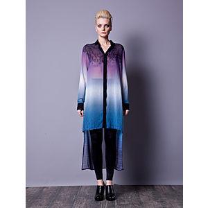 Gülçin Uzunalan Mor-Mavi Degrade Uzun Bluz