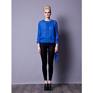 Gülçin Uzunalan Sax Kol Düğme Detaylı Bluz
