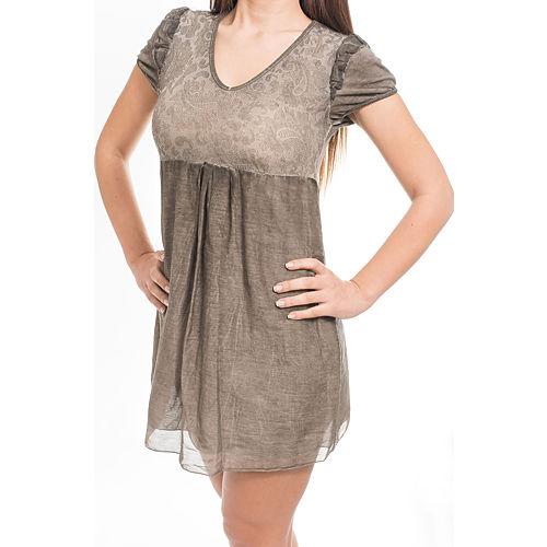 Heart Eclipse Bej Mini Elbise