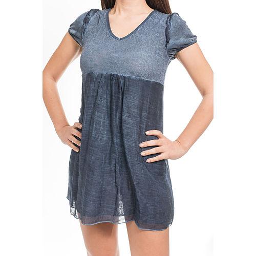 Heart Eclipse Mini Mavi Elbise