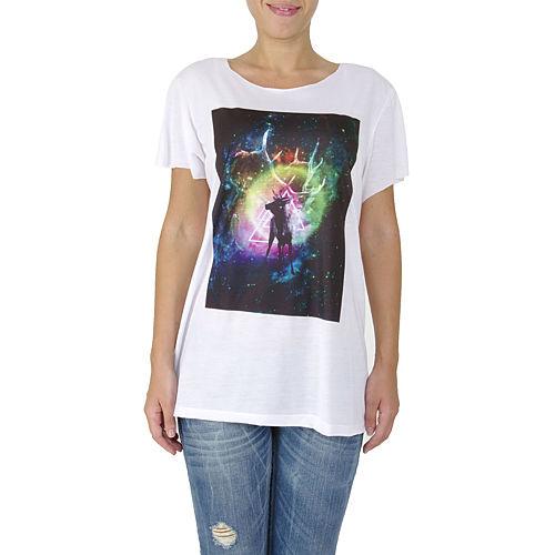 İrem Yıldırım Geyik Baskılı Renkli Basic T-Shirt
