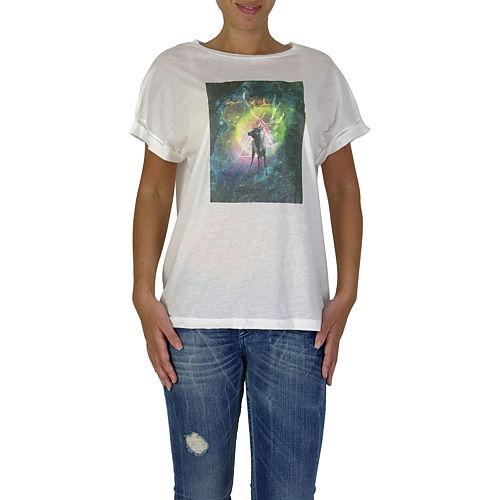 İrem Yıldırım Geyik Baskılı Renkli T-Shirt