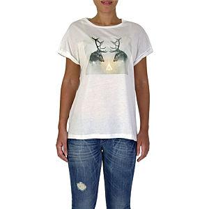 İrem Yıldırım Geyik Baskılı T-Shirt