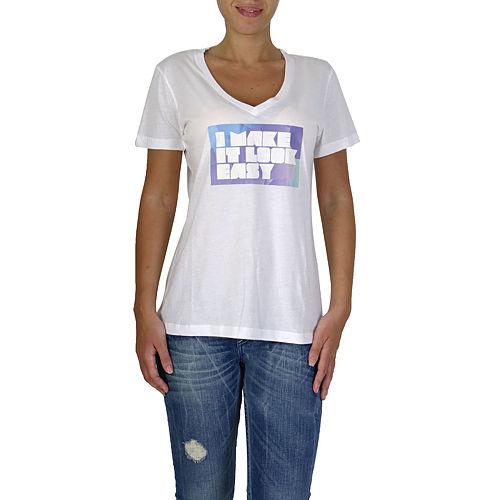 İrem Yıldırım Make It Look Easy V Yaka T-Shirt