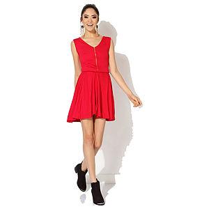 Jove Olga Fermuarlı Elbise Kırmızı