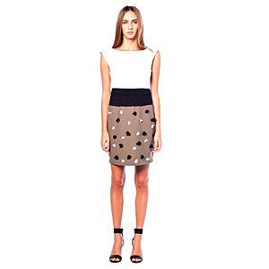 Karahasan's Eteği Çiçekli Vizon Elbise