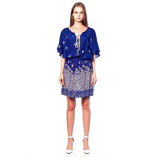 Karahasan's Mavi Çiçekli Elbise