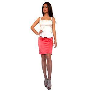Karahasan's Mercan Beyaz Elbise