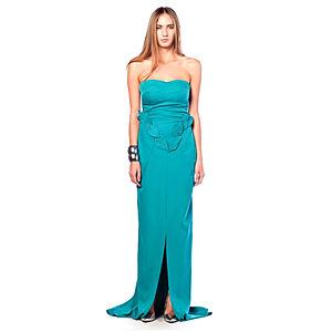 Karahasan's Zümrüt Yeşili Straplez Elbise