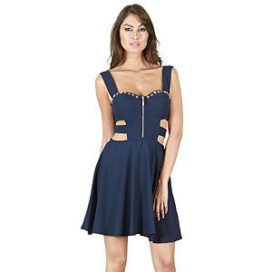 KeiKei Lacivert Krep Elbise